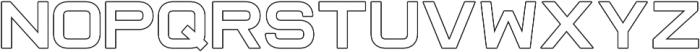 Raxtor Outline otf (400) Font UPPERCASE