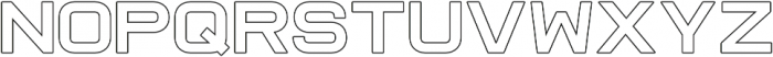 Raxtor Outline otf (400) Font LOWERCASE