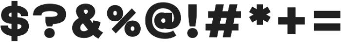 Raxtor otf (700) Font OTHER CHARS