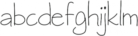 raspberrygranola ttf (400) Font LOWERCASE