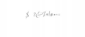 Rachela Script Alternative 1.ttf Font OTHER CHARS