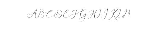 Rachela Script Alternative 1.ttf Font UPPERCASE