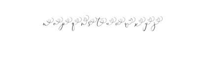 Rachela Script Alternative 1.ttf Font LOWERCASE
