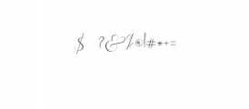 Rachela Script Alternative 2.ttf Font OTHER CHARS