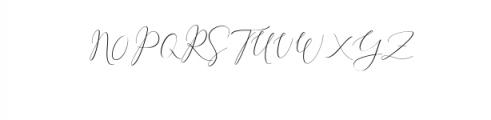 Rachela Script Alternative 2.ttf Font UPPERCASE