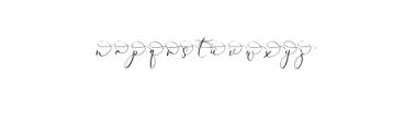 Rachela Script Alternative 2.ttf Font LOWERCASE