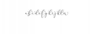 Rachela Script Alternative 3.ttf Font LOWERCASE