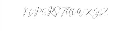 Rachela Script Alternative 4.ttf Font UPPERCASE