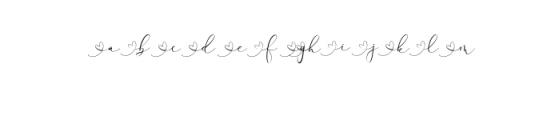 Rachela Script Alternative 4.ttf Font LOWERCASE