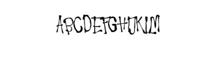 Ragword-Regular.ttf Font UPPERCASE