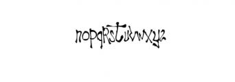 Ragword-Regular.ttf Font LOWERCASE