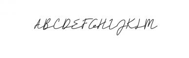 Rahayu - A Stylish Signature Font Font UPPERCASE