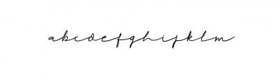 Rahayu - A Stylish Signature Font Font LOWERCASE