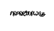 Rapsodie.ttf Font UPPERCASE