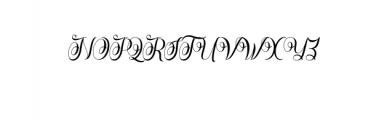 Rasputia.otf Font UPPERCASE