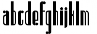 Radiogram Solid Tall Font LOWERCASE