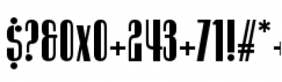 Radiogram Solid Font OTHER CHARS