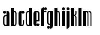 Radiogram Solid Font LOWERCASE