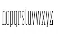 Rama Slab C Thin Font LOWERCASE