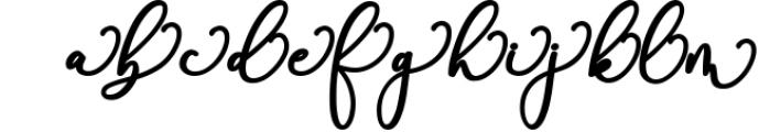 Rachela Script Bold 6 Font LOWERCASE