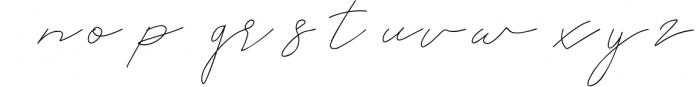 Rahayu Signature Font Font LOWERCASE