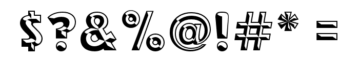 RACE1 Brannt Chiseled NCV Font OTHER CHARS
