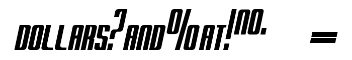 RADARitalic by Doug Sheets Font OTHER CHARS