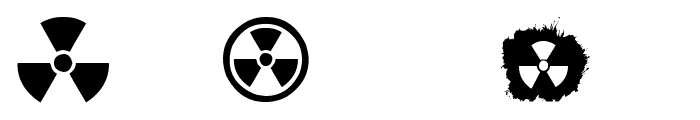 RADIATION Font LOWERCASE