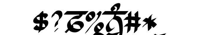 Raaj Script Thin Font OTHER CHARS