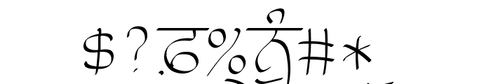 Raaj Thin Font OTHER CHARS