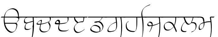 Raaj Thin Font LOWERCASE