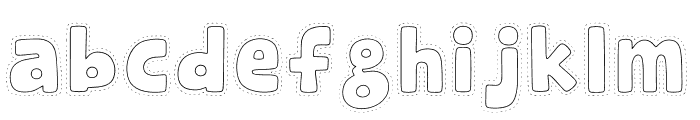 Rabbit Jump Font LOWERCASE