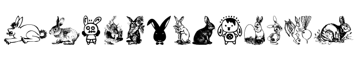 Rabbit Font UPPERCASE