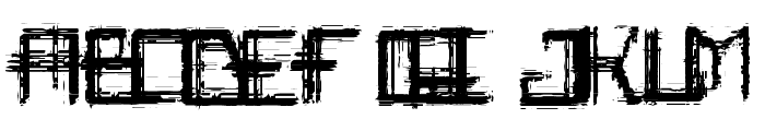 Rabid_Science Font UPPERCASE