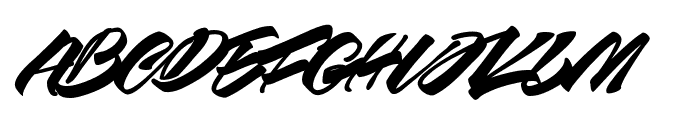 Race Fever Brush PERSONAL Font LOWERCASE