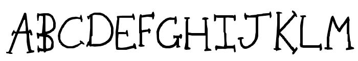 Rachel Rabbit's Lawn Font UPPERCASE