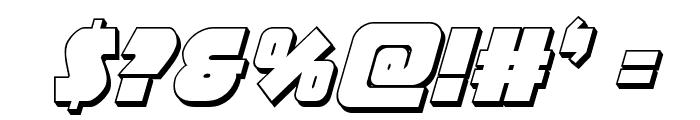 Racket Squad 3D Italic Font OTHER CHARS
