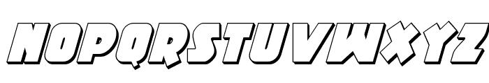 Racket Squad 3D Italic Font UPPERCASE