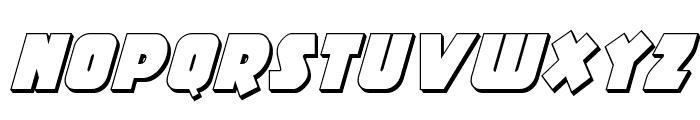 Racket Squad 3D Italic Font LOWERCASE