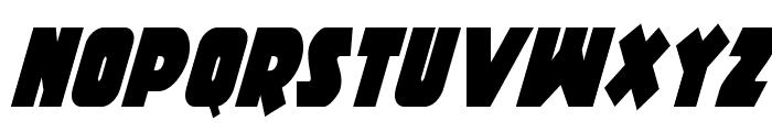 Racket Squad Condensed Italic Font UPPERCASE