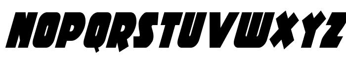 Racket Squad Condensed Italic Font LOWERCASE