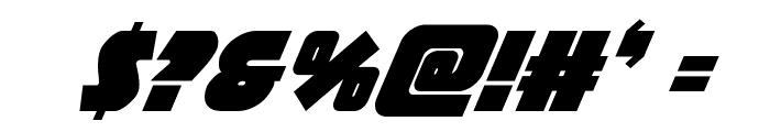 Racket Squad Super-Italic Font OTHER CHARS