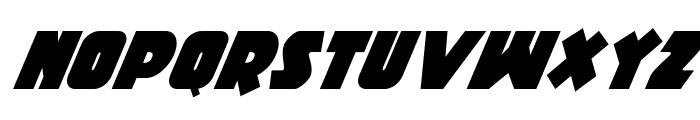 Racket Squad Super-Italic Font UPPERCASE