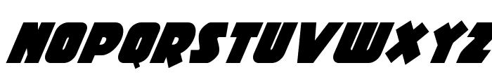 Racket Squad Super-Italic Font LOWERCASE