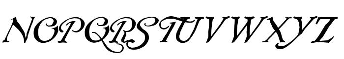 Rackham Italic Font UPPERCASE