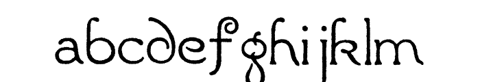 Radaern Font LOWERCASE