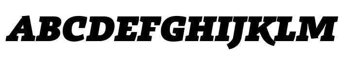 Radcliffe Display Heavy Italic Font UPPERCASE