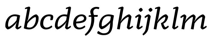 Radcliffe Display Italic Font LOWERCASE