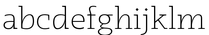 Radcliffe Display Light Font LOWERCASE
