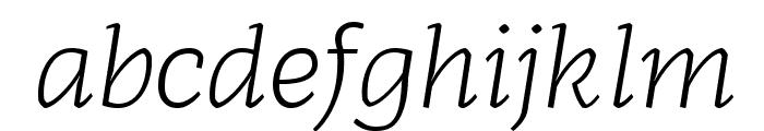 Radcliffe Text Light Italic Font LOWERCASE